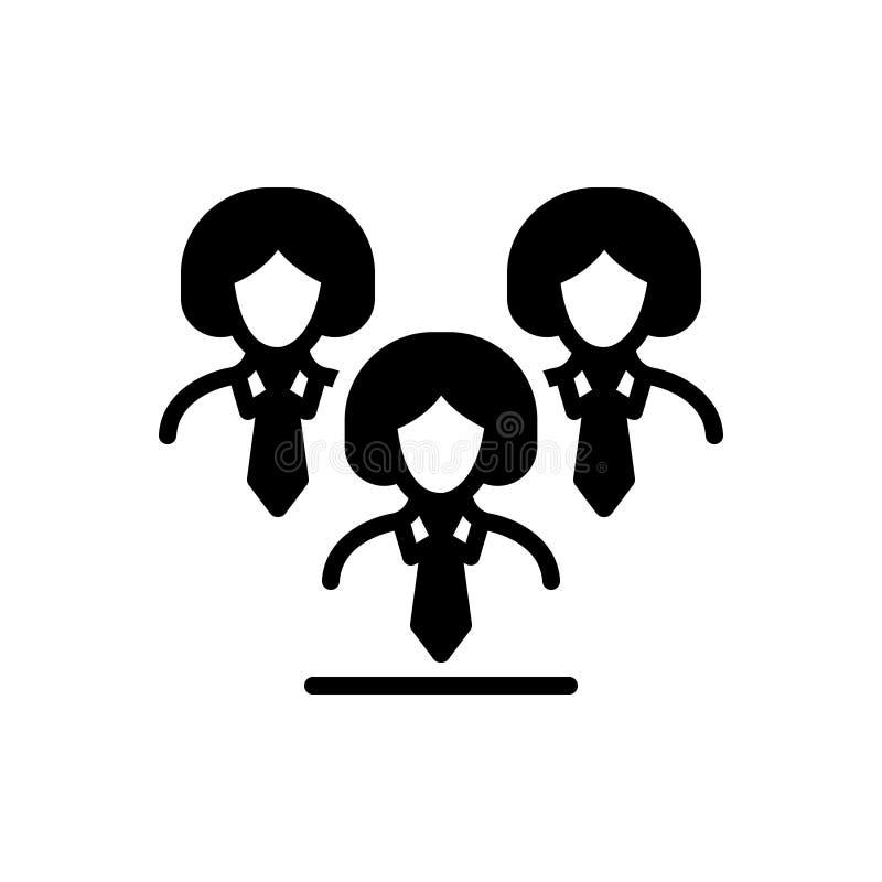 Den svarta fasta symbolen för ledarskap, leder och vägledning vektor illustrationer