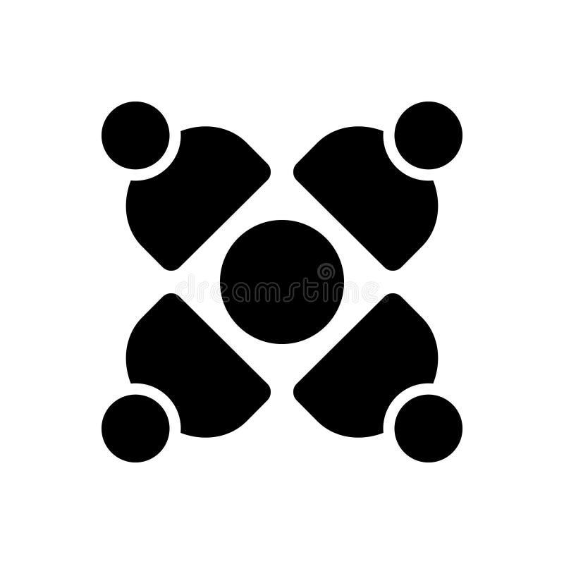 Den svarta fasta symbolen för social anslutning, förbinder och massmedia vektor illustrationer