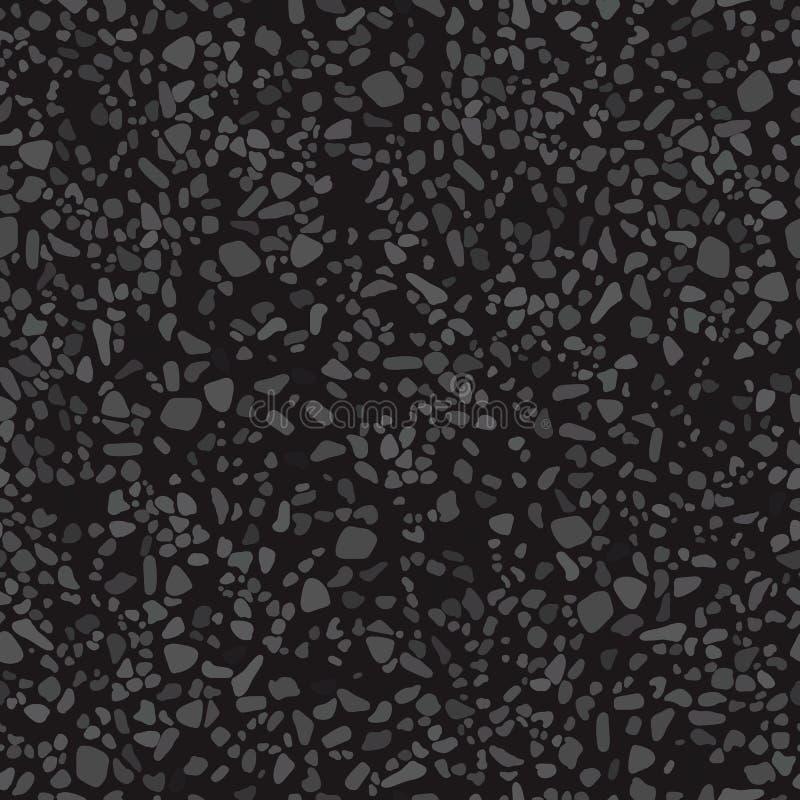 Den svarta korniga texturen av asfalten royaltyfri illustrationer