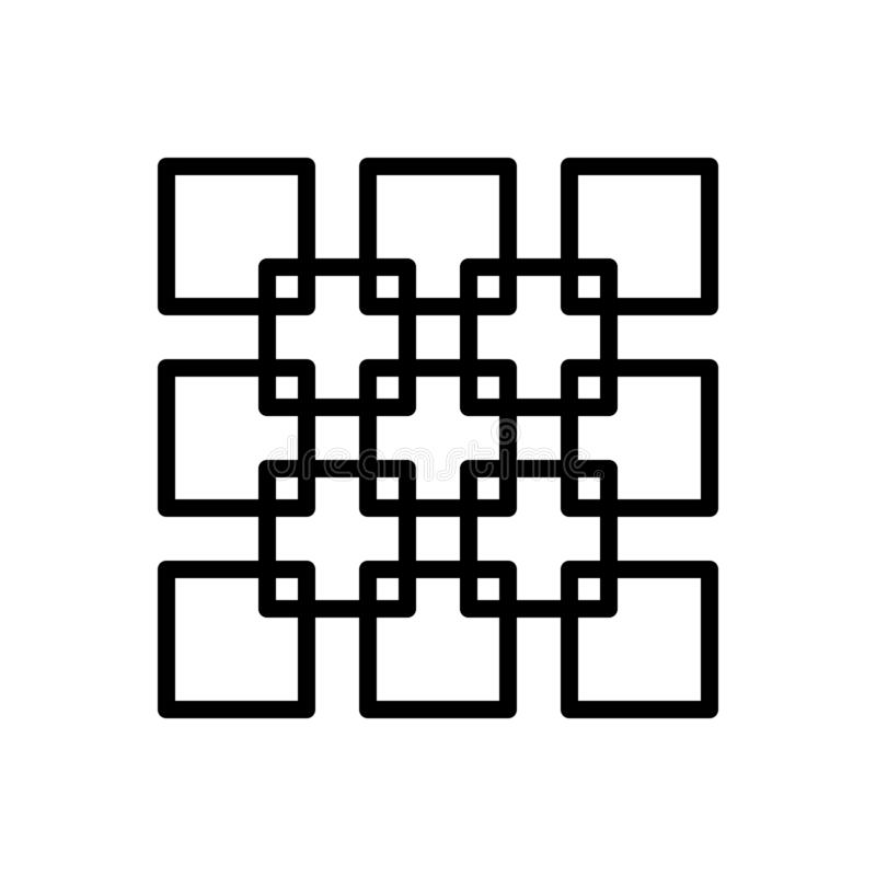 Den svarta linjen symbolen för Join, förenar och förbinder stock illustrationer