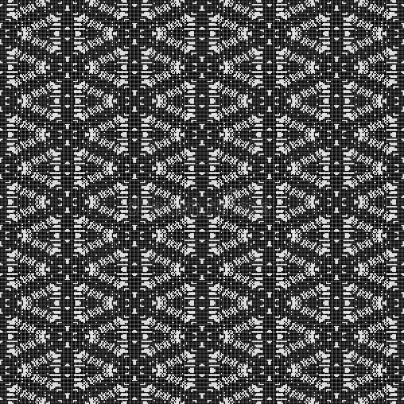 Den svartvita gardinen snör åt textur royaltyfri illustrationer
