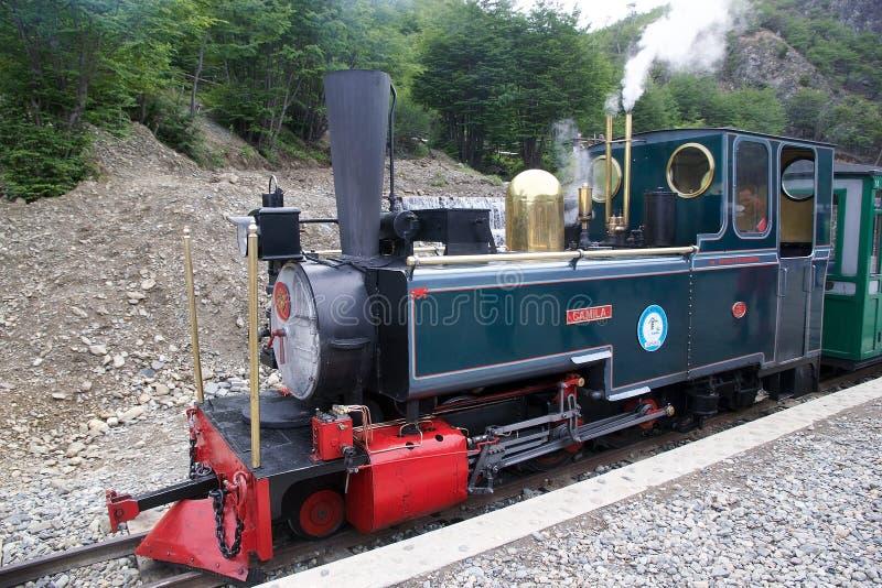 Den sydliga Fuegian järnvägen, Ushuaia, Argentina royaltyfri fotografi