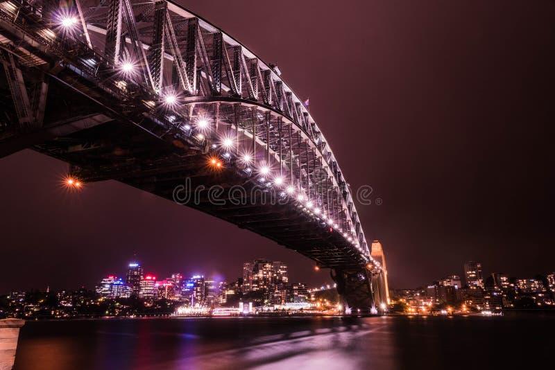 Den Sydney hamnen överbryggar royaltyfri bild