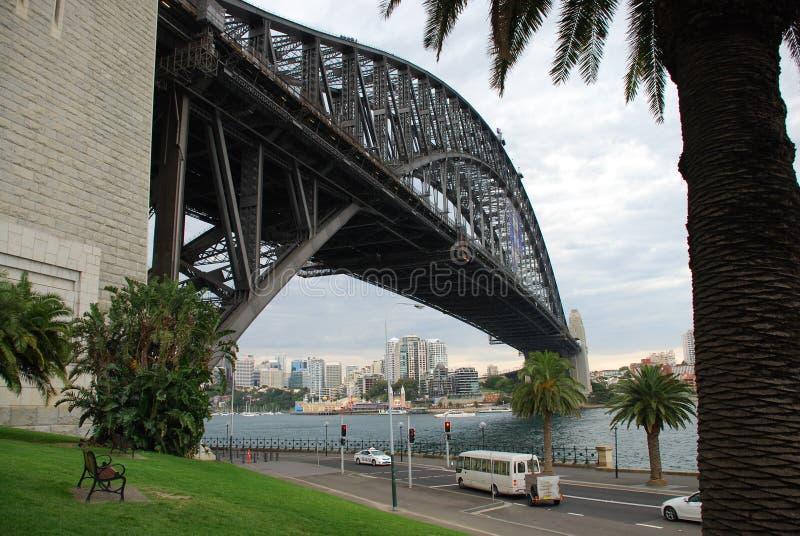Den Sydney hamnen överbryggar royaltyfri fotografi