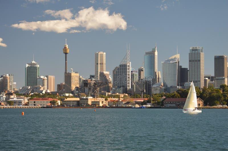 Den Sydney hamnen beskådar arkivbild