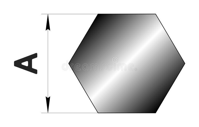 Den tekniska teckningen rullade metall Stål förhäxer profil Bild för webbplats illustration stock illustrationer