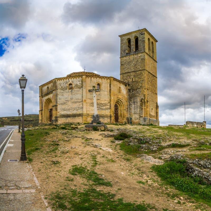 Den Templar kyrkalaen Vera Cruz av Segovia royaltyfri foto