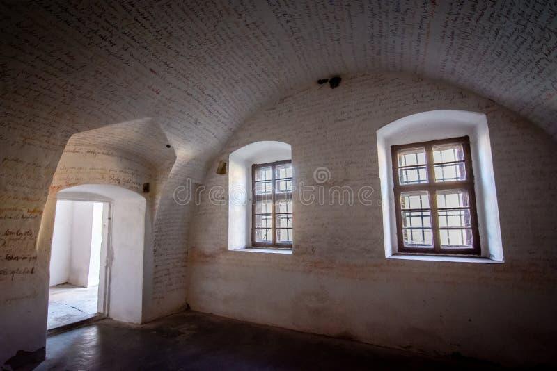 Den Terezin minnesmärken var en medeltida militär fästning som användes som en koncentrationsläger i WWEN royaltyfria bilder