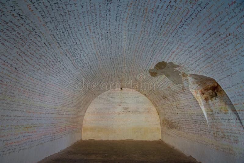 Den Terezin minnesmärken var en medeltida militär fästning som användes som en koncentrationsläger i WWEN royaltyfri fotografi