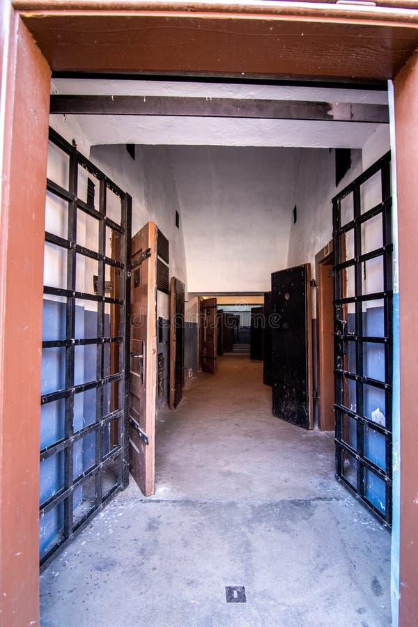 Den Terezin minnesmärken var en medeltida militär fästning som användes som en koncentrationsläger i WWEN royaltyfri bild