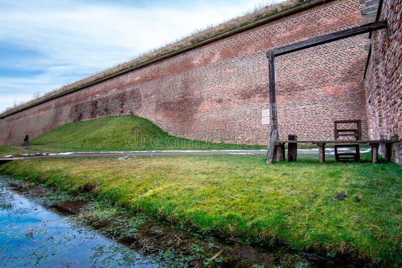 Den Terezin minnesmärken var en medeltida militär fästning som användes som en koncentrationsläger i WWEN arkivbilder