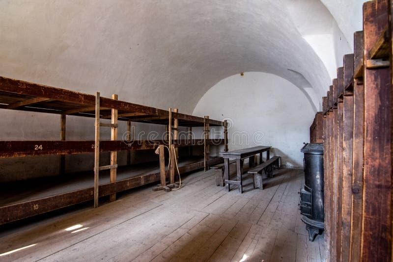 Den Terezin minnesmärken var en medeltida militär fästning som användes som en koncentrationsläger i WWEN royaltyfria foton
