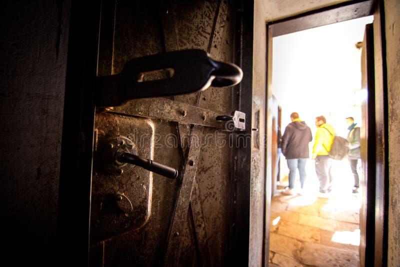 Den Terezin minnesmärken var en medeltida militär fästning som användes som en koncentrationsläger i WWEN royaltyfri foto