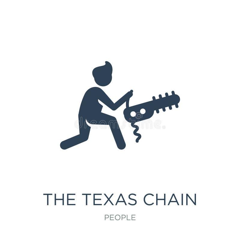den texas kedjan såg massakersymbolen i moderiktig designstil den texas kedjan såg massakersymbolen som isolerades på vit bakgrun vektor illustrationer
