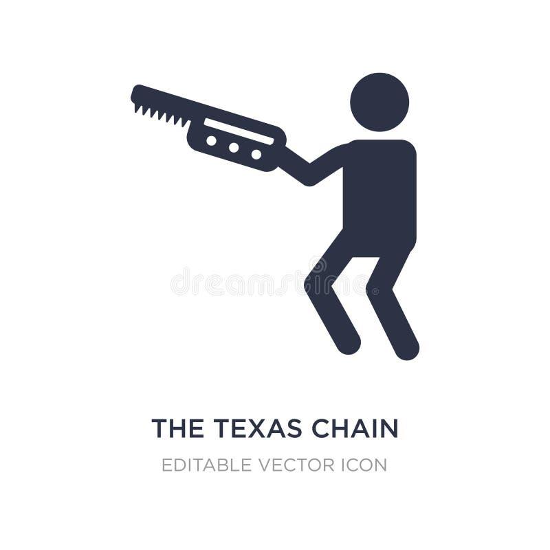 den texas kedjan såg massakersymbolen på vit bakgrund Enkel beståndsdelillustration från folkbegrepp vektor illustrationer