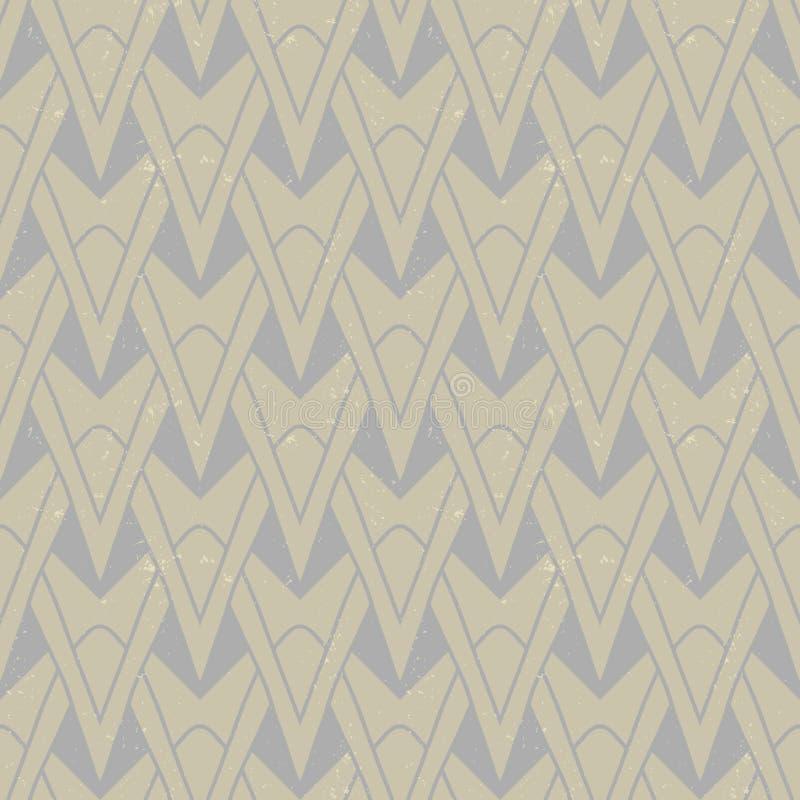 Den texturerade art déco mönstrar med geometriska motiv vektor illustrationer