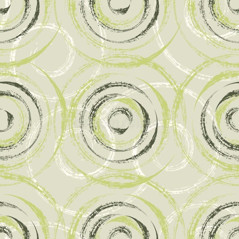 Den texturerade torra borsten cirklar sömlös modelldesign vektor illustrationer