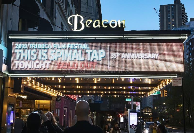 den 35th årsdagen av DENNA ÄR DET RYGGRADS- KLAPPET på den Tribeca filmfestivalen 2019 arkivfoton