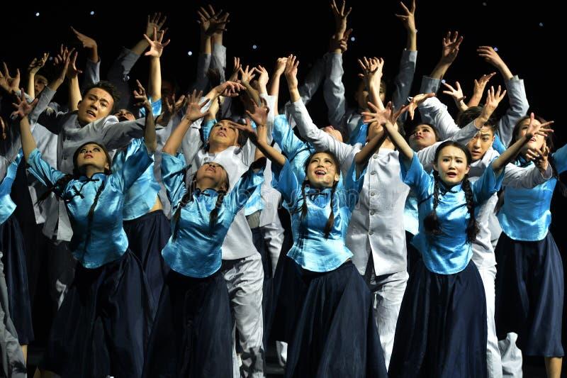 Den 4th showen för Kina universitetkonst arkivbild