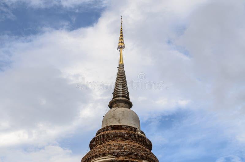 Den Thailand templet, Wat Jed Yod, den Chiangmai pagoden är berömt sakralt p royaltyfri bild