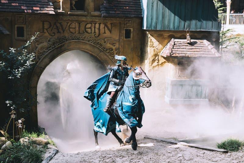 Den themed fantasin parkerar Efteling i Nederländerna royaltyfri foto