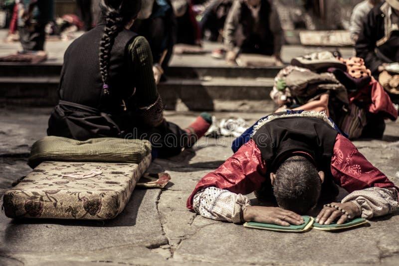 Den tibetana bönen royaltyfri foto