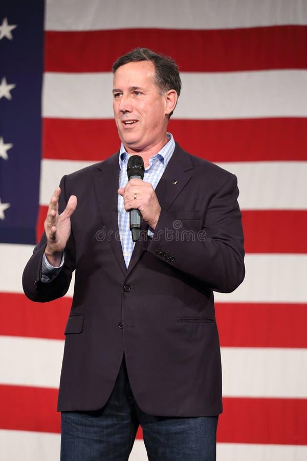 Den tidigare Förenta staternasenatorn från Pennsylvania, republikanen Rick Santorum, delta i en kampanj för presidentsämbete royaltyfria bilder