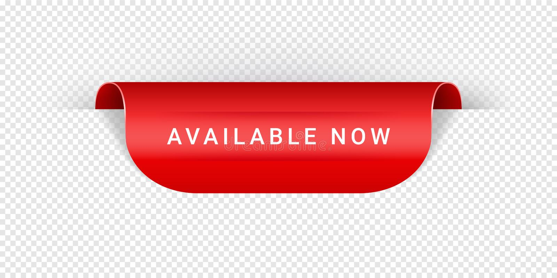 Den tillgängliga nu realistiska röda origamin för för för för för för vektorklistermärke, etikett, baner, etikett, tecken eller b vektor illustrationer