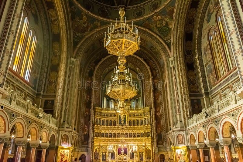 Den Timisoara ortodoxdomkyrkan royaltyfria foton