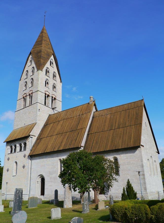 Den Tingstade kyrkan royaltyfri fotografi