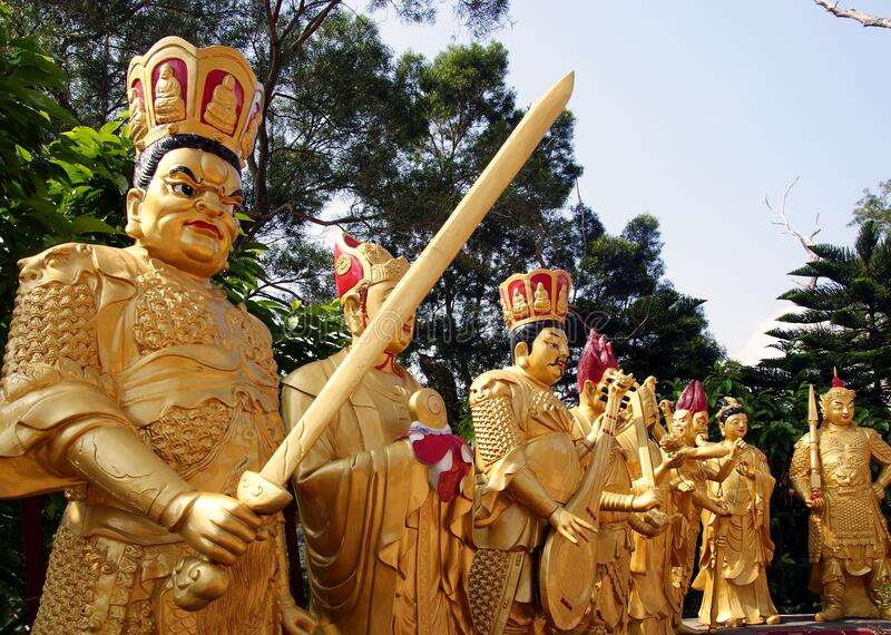 Den tio tusen Buddhakloster royaltyfri bild