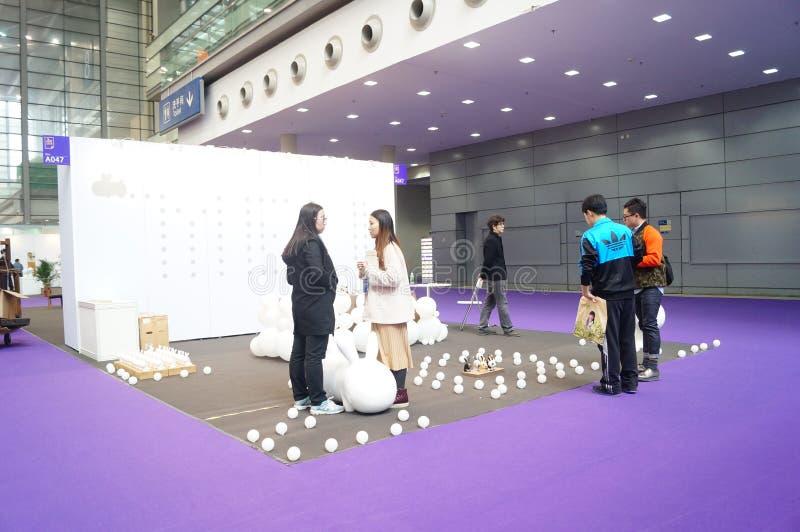 Den tionde Kina (Shenzhen) internationella kulturindustrimässan i vinterhantverkkonstutställning royaltyfri foto