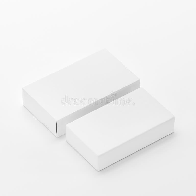 Den tomma förpackande modellmallen för tvål & för asken på vit bakgrund, ordnar till för din design och presentation, illustratio royaltyfri foto