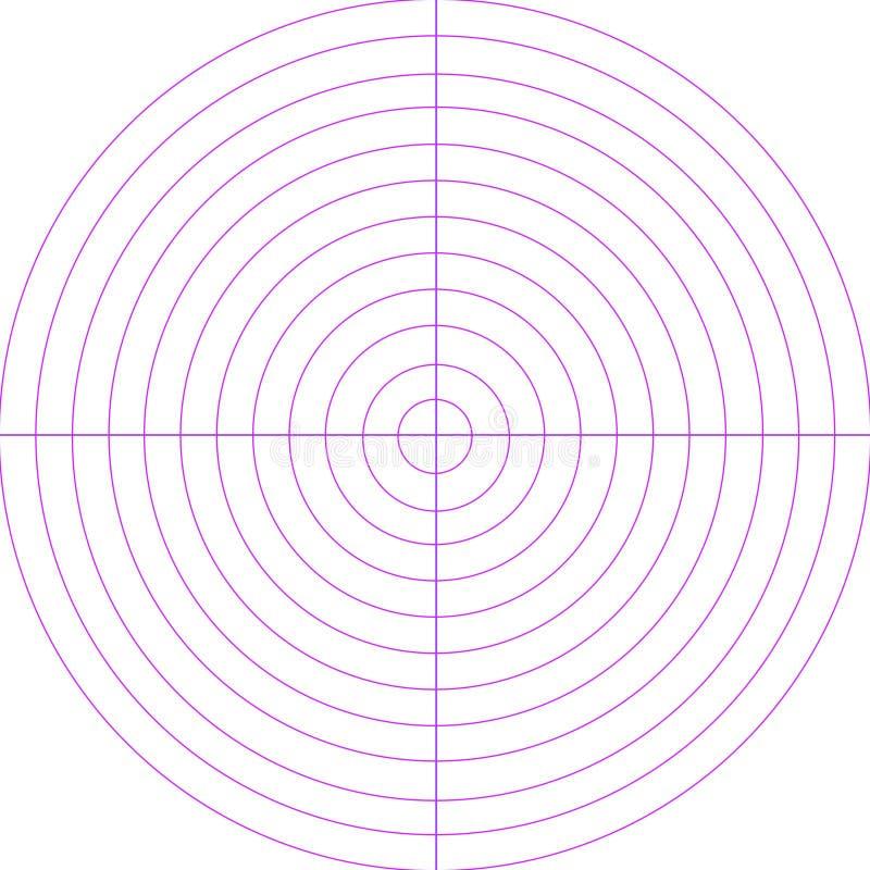 Den tomma radar avskärmer royaltyfri illustrationer