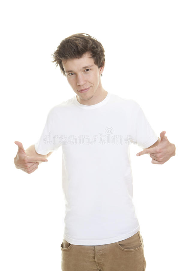 Den tomma skjortan för vit t modellerar