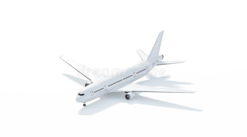 Den tomma vita flygplanmodellställningen, sidosikt isolerade royaltyfri illustrationer