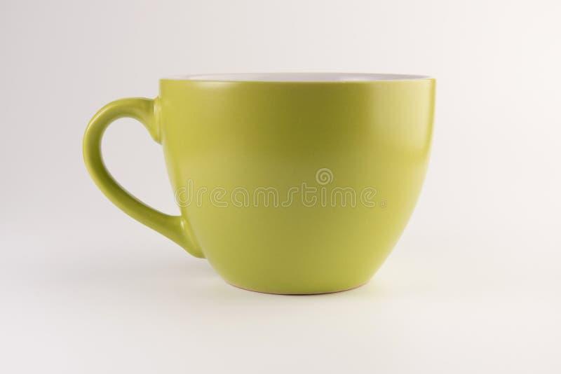 Den tomt tekoppen eller kaffe rånar royaltyfri bild