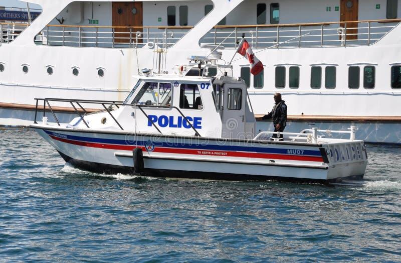 Den Toronto polisen Marine Unit arkivbilder