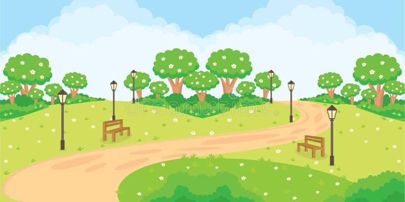 Den trädgårds- lekplatsen arkivfoto