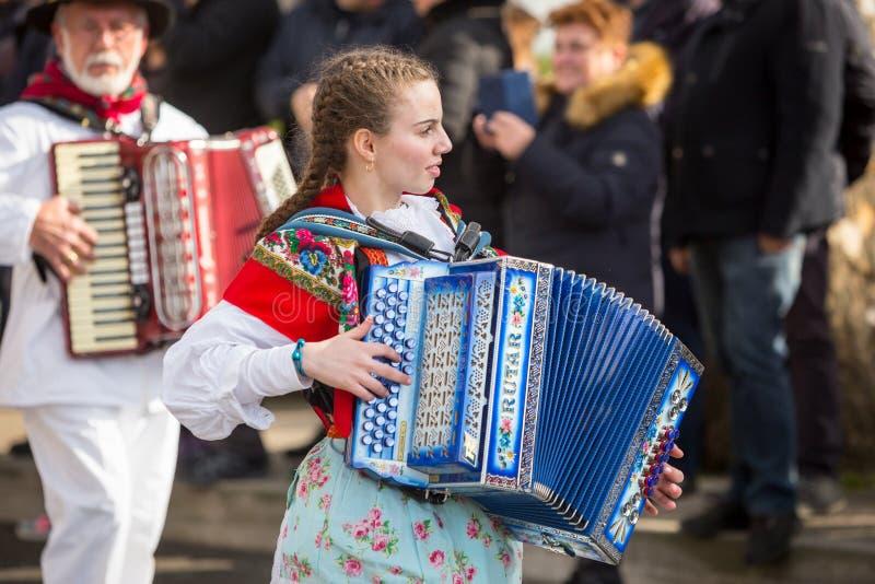 Den traditionella karnevalet ståtar royaltyfri bild