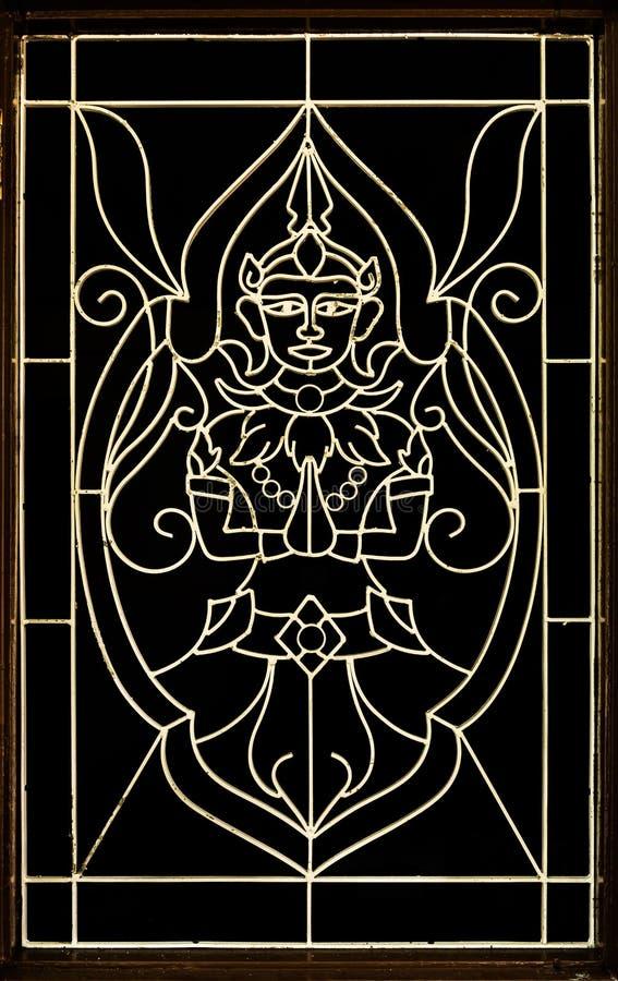 Den traditionella konsten av thailändskt krökt stål royaltyfri foto