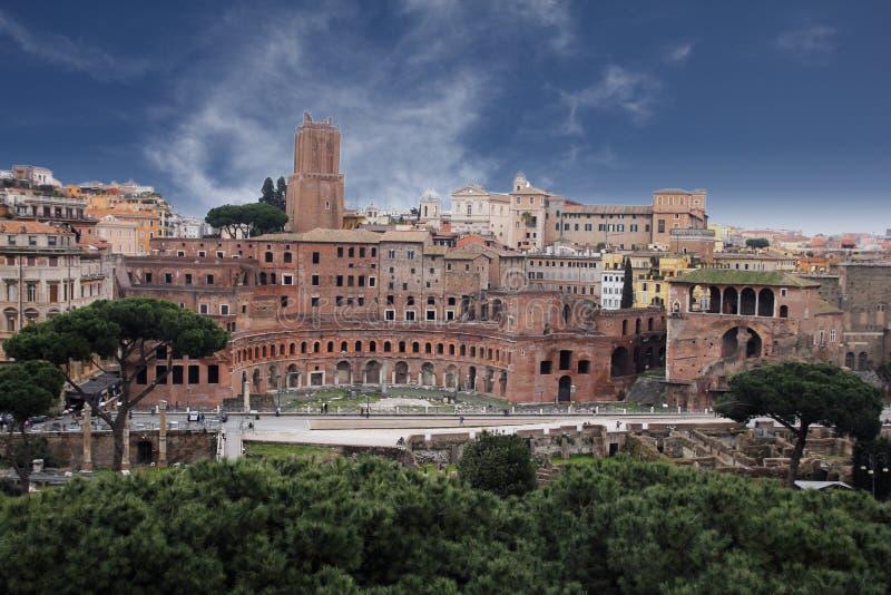 Den trajan romen arkivfoto