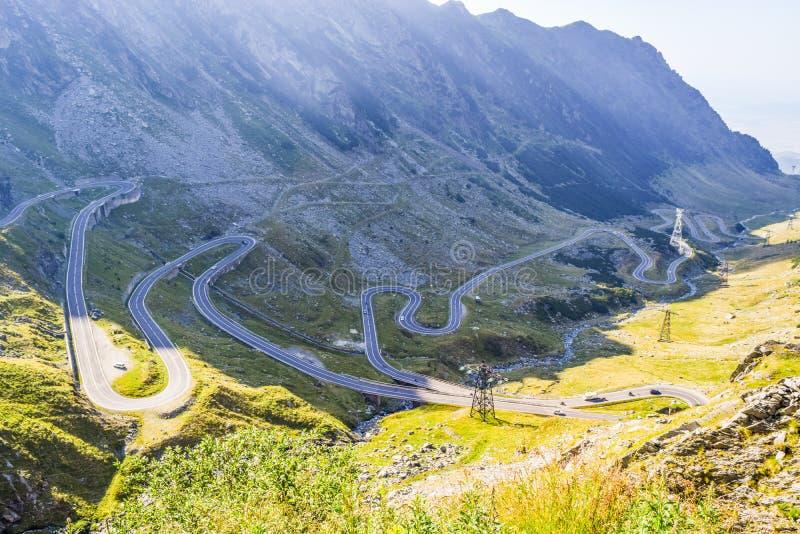 Den Transfagarasan bergvägen royaltyfri foto