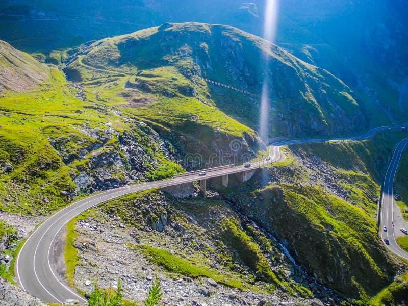 Den Transfagarasan bergvägen arkivfoto