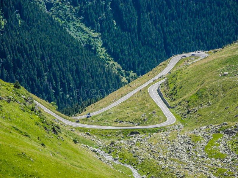 Den Transfagarasan bergvägen royaltyfria foton