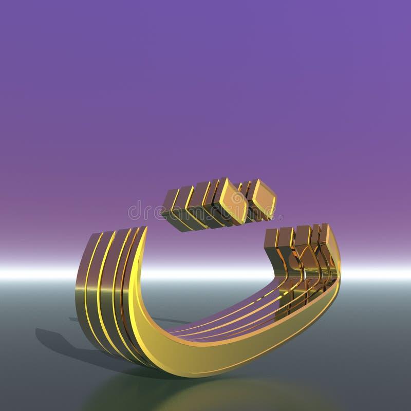 Den tredje bokstaven i det arabiska språket royaltyfria foton