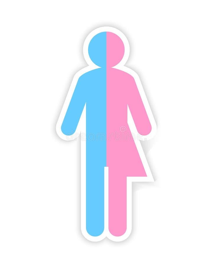 Den tredje genuset och könsbestämmer begrepp stock illustrationer