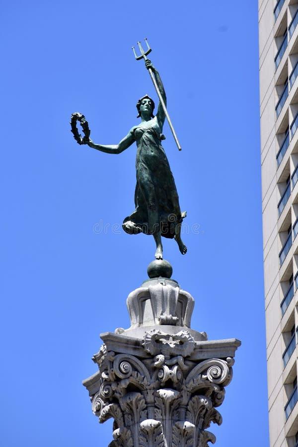 Den trefaldiga berömda Dewey Monument, 2 fotografering för bildbyråer