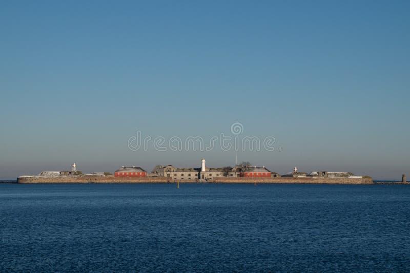 Den Trekroner havsfästningen, Köpenhamn, Danmark royaltyfria bilder