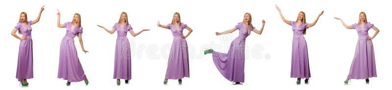 Den trevliga kvinnan i modekläder - sammansatt bild royaltyfri bild